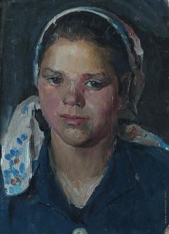 Саинчук Г. В. Портрет девушки в косынке