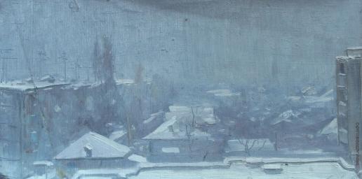 Давид А. А. Зимний день в городе