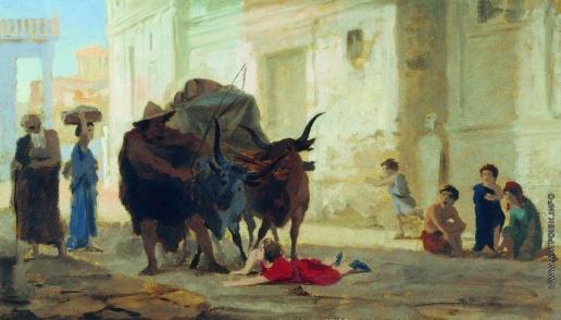 Бронников Ф. А. Дети на улице Помпеи