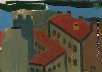 Васми Р. Р. Городской пейзаж, крыши домов