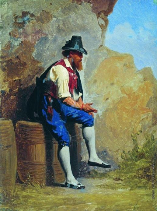 Бронников Ф. А. Итальянский крестьянин на бочке
