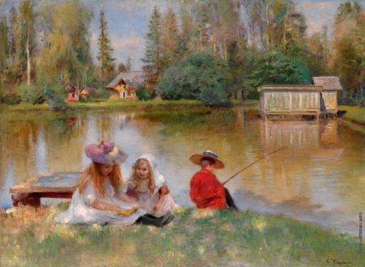 Маковский К. Е. Дети на озере