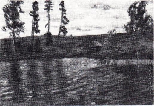 Жуковский С. Ю. Ветреный день. Пейзаж с рекой