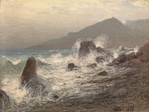 Лагорио Л. Ф. Волны, бьющиеся о скалы