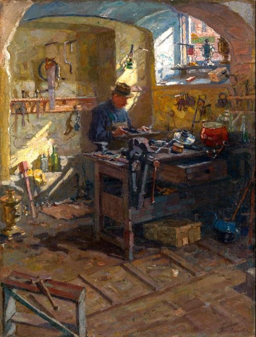 Лаховский А. Б. В самоварной мастерской