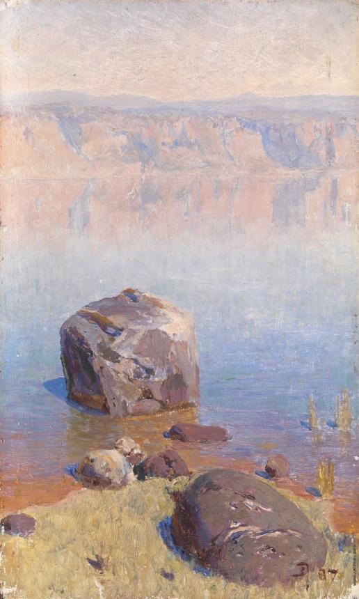 Поленов В. Д. Скалы на тивериадском озере. Этюд