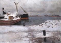 Дворников Т. Я. Зимняя пристань