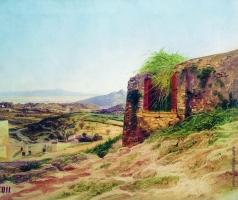 Бронников Ф. А. Пейзаж с развалинами