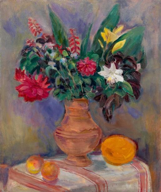 Кузнецов П. В. Натюрморт с цветами в глиняном горшке