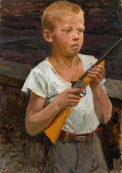 Пластов А. А. Сашка-солдат