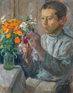 Пластов А. А. Уроки ботаники. Портрет сына