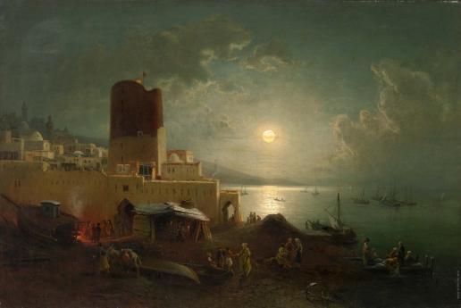 Франкен П. Вид на девичью башню в Баку
