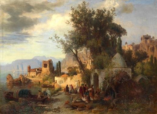 Франкен П. Вечер на берегу реки Кура ниже Тбилиси
