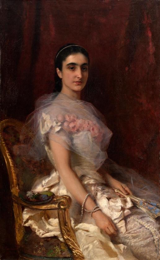 Маковский К. Е. Портрет сидящей девушки