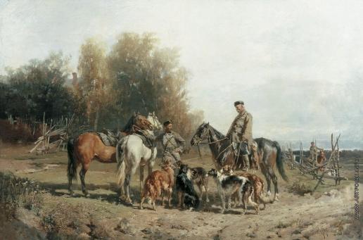 Френц Р. Ф. Сборы на охоту. (Охотники)
