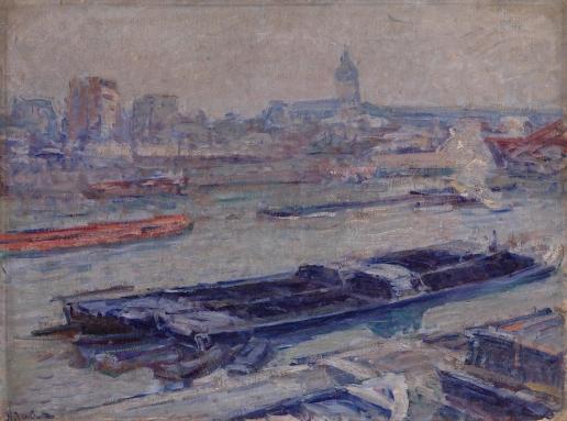Тархов Н. А. Сена у моста Аустерлиц