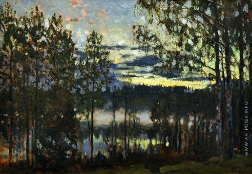 Жуковский С. Ю. Летний вечер на озере