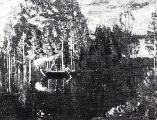 Жуковский С. Ю. Лучат рыбу по весеннему разливу
