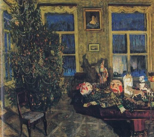 Жуковский С. Ю. Ночь под Рождество. (Интерьер с елкой)