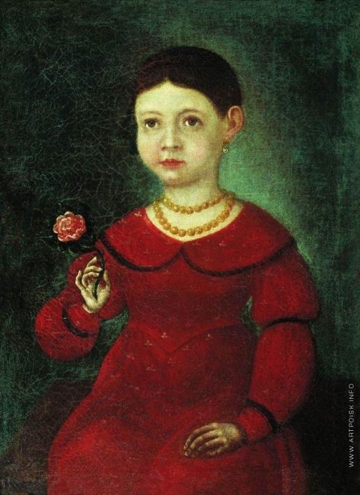 Бронников Ф. А. Портрет девочки Евдокии Кузнецовой