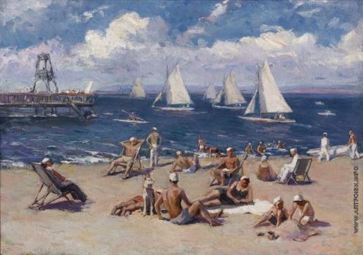 Шапошников Б. В. Пляж
