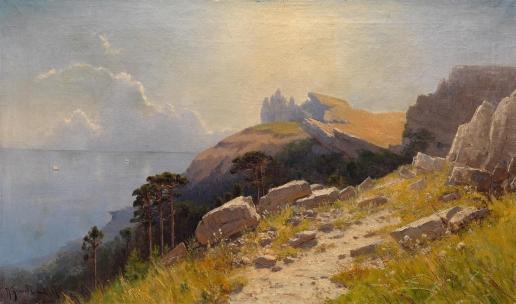 Алисов М. А. Прибрежный пейзаж в Крыму