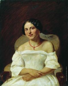 Бронников Ф. А. Портрет женщины в белом