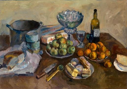 Лентулов А. В. Натюрморт с пирожными и фруктами
