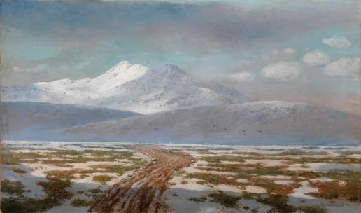 Башинджагян Г. З. Вид на гору Казбек
