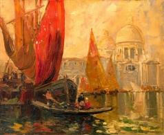 Лапшин Г. А. Вид на Большой Канал в венеции