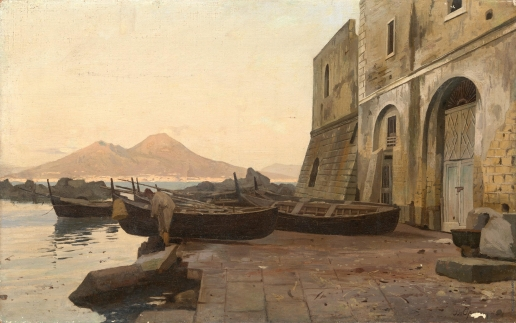 Орловский В. Д. Вид на Везувий от неаполитанского залива