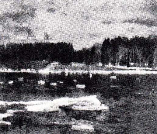 Жуковский С. Ю. Ледоход на Немане. (Река)