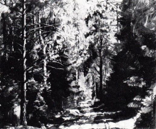 Жуковский С. Ю. Дорога в лесу