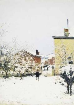 Похитонов И. П. Тру-Луэт. Зима. Вид из квартиры художника