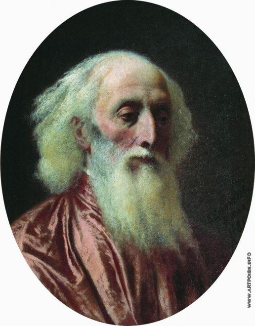 Бронников Ф. А. Портрет старика в малиновой одежде