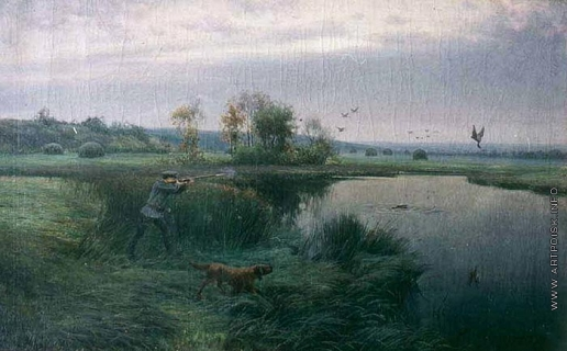 Батурин В. П. Охотник на лугах
