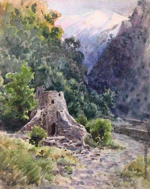 Батурин В. П. Ущелье на Кавказе