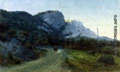 Батурин В. П. Горный пейзаж. Дорога в Крым