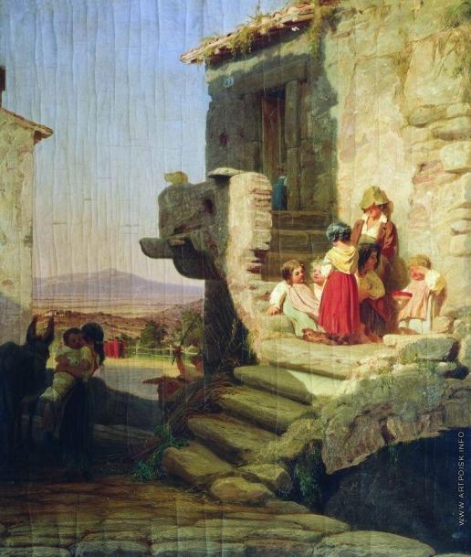 Бронников Ф. А. Рим. Итальянский дворик