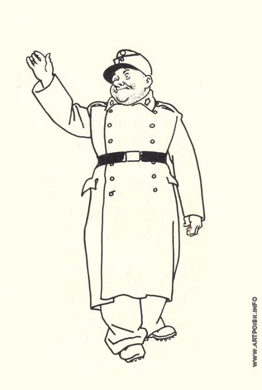 Базилевич А. Д. Иллюстрация к роману «Приключения бравого солдата Швейка» Я. Гашека