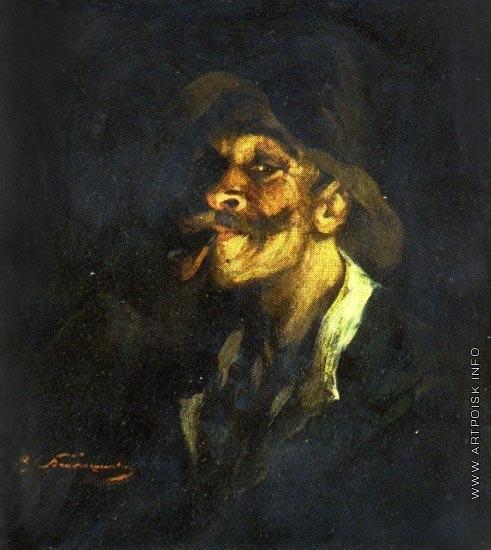 Беляшин В. В. Автопортрет с трубкой