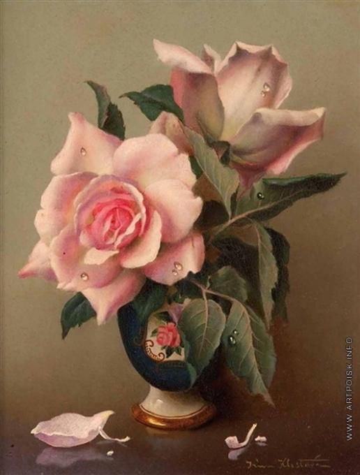 Клестова И. Две розы в вазе
