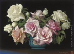 Клестова И. Розы в фарфоровой вазе