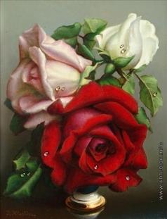 Клестова И. Красная, розовая и белая розы