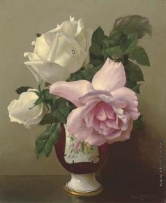 Клестова И. Розы в керамической вазе
