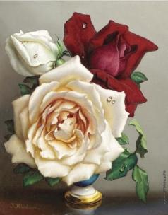 Клестова И. Натюрморт. Розы