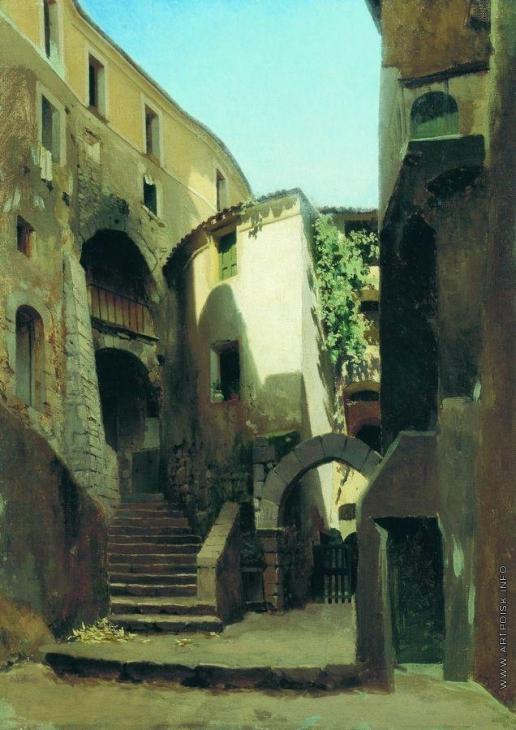 Бронников Ф. А. Улица в Италии