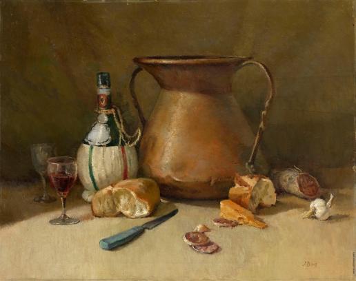 Браз О. Э. Натюрморт с хлебом и вином