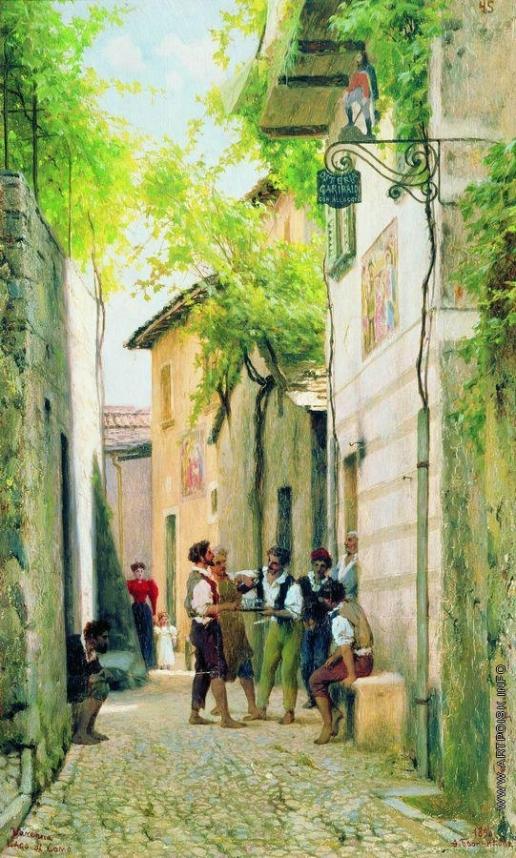 Бронников Ф. А. Улица итальянского города