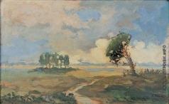Труш И. И. Пейзаж с сосной
